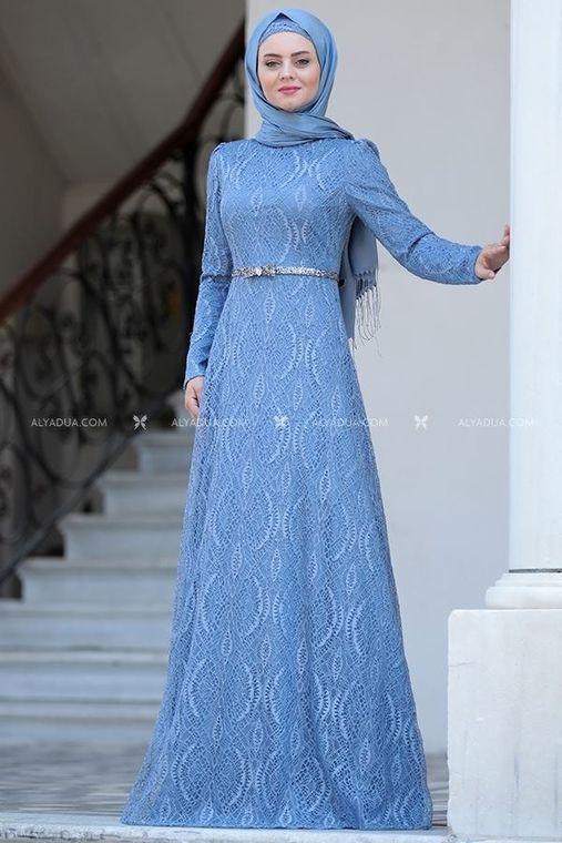 Ahunisa - Bebe Mavi Parıltı Abiye - AHU14119