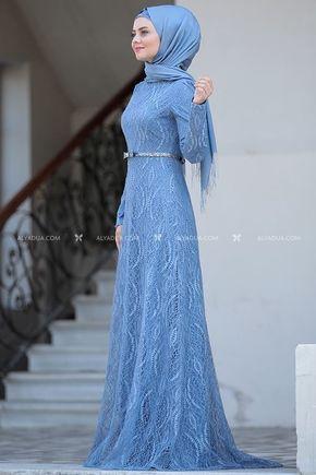 Bebe Mavi Parıltı Abiye - AHU14119 - Thumbnail