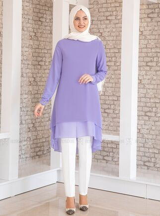MDV Collection - Lila Şifon Tunik - FS15206