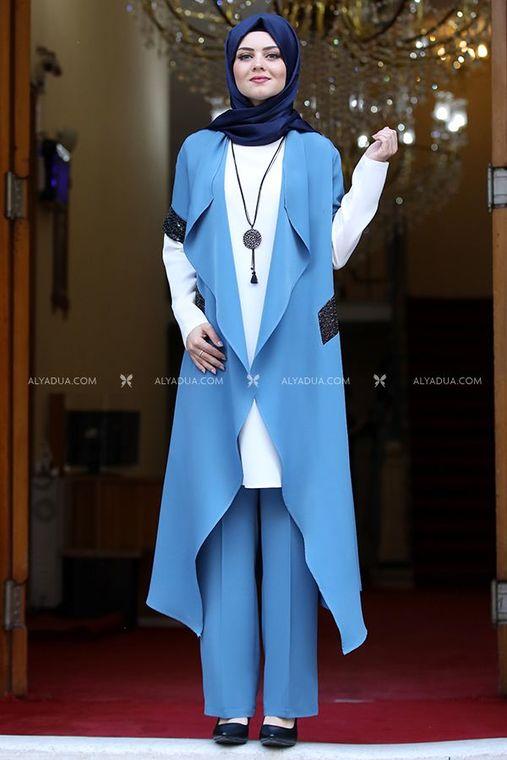 Ahunisa - Mavi Asel Üçlü Takım - AHU13974