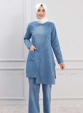 Mavi Çapraz Kot Takım - PN15297 - Thumbnail