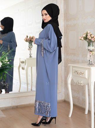 Mavi Efsa Ferace Elbise - LF14915 - Thumbnail