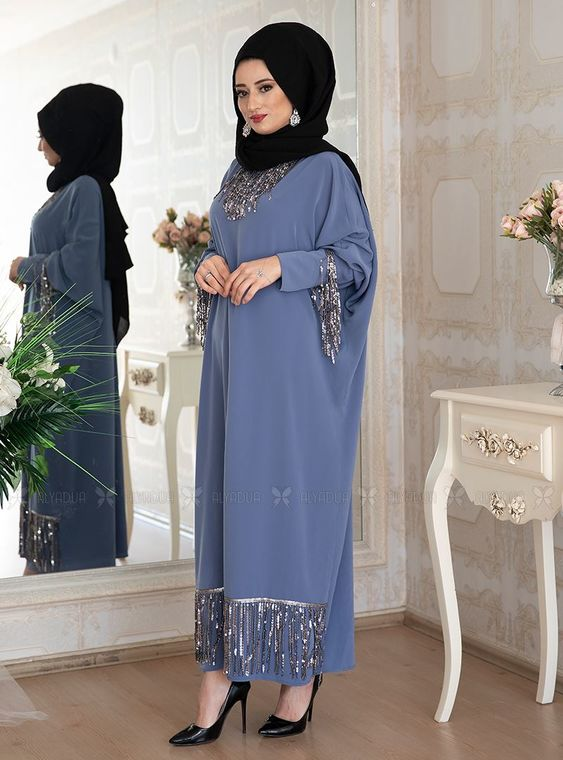 Mavi Efsa Ferace Elbise - LF14915