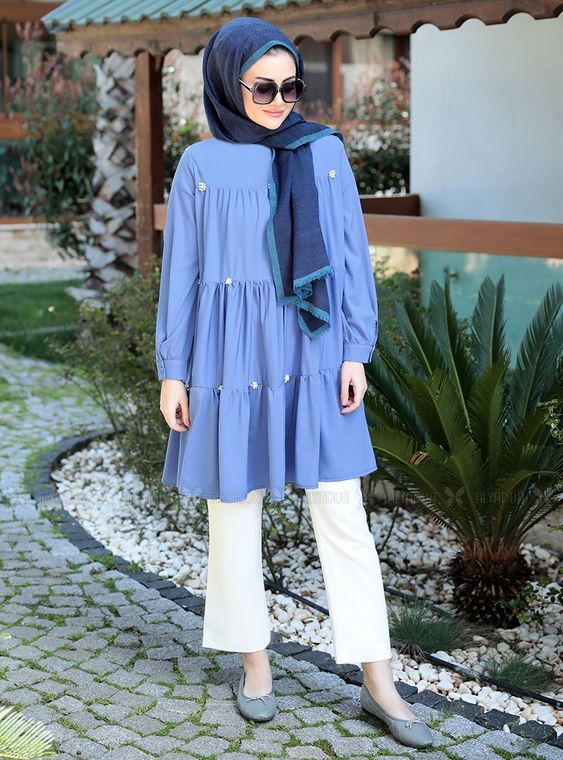 Seda Tiryaki - Mavi İnci Tunik - ST14905