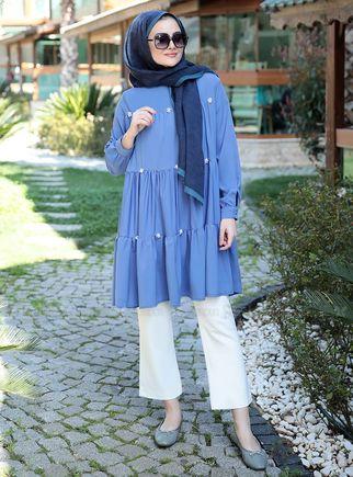 Mavi İnci Tunik - ST14905 - Thumbnail