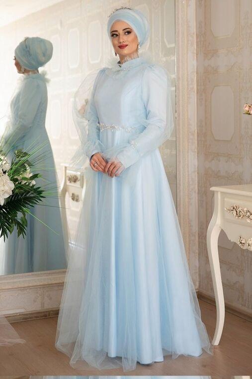 Lefzen - Mavi Leila Abiye - LZ16453