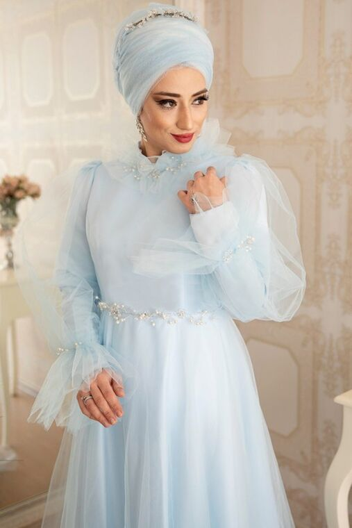 Mavi Leila Abiye - LZ16453