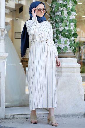 Mavi Nil Elbise - ST13918 - Thumbnail
