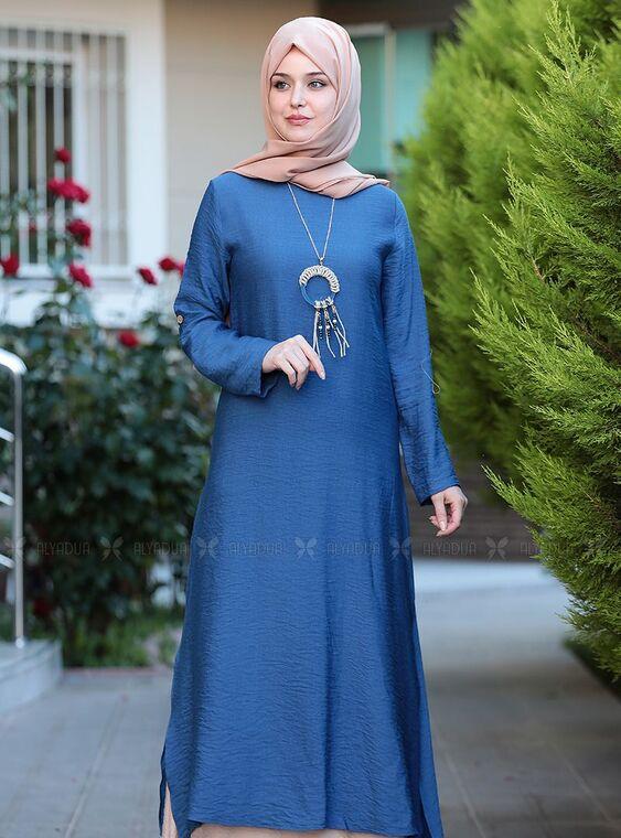 Mavi Otantik Elbise - ES15143
