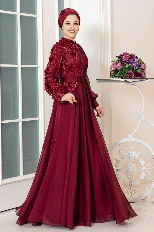 Dress Life - Bordo Melisa Abiye - DL16264
