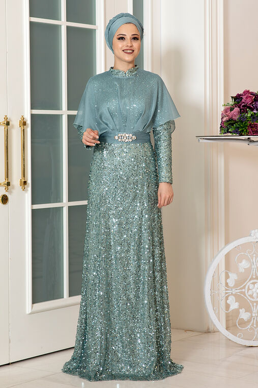 Dress Life - Mint Deren Abiye - DL16314