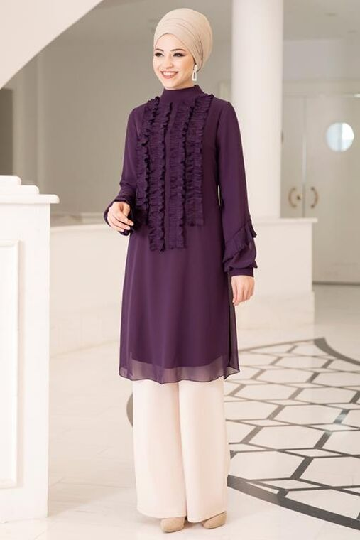 Dress Life - Mor Eylül Tunik - DL15705