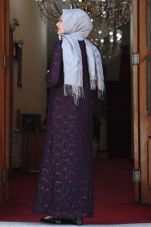 Mor Papatya Abiye - AMH16133