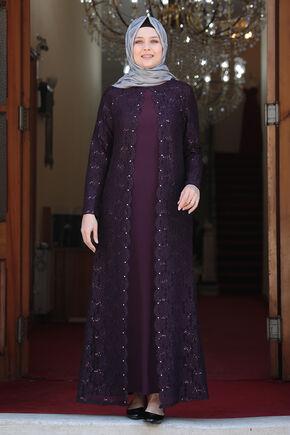 Amine Hüma - Mor Papatya Abiye - AMH16133