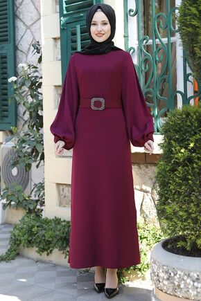 Emsale - Mürdüm Aycan Elbise - ES15881