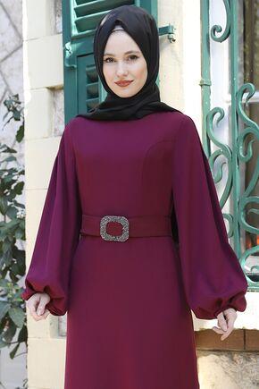 Mürdüm Aycan Elbise - ES15881 - Thumbnail