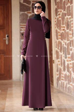 Rana Zenn - Mürdüm Beste Elbise - RZ12862