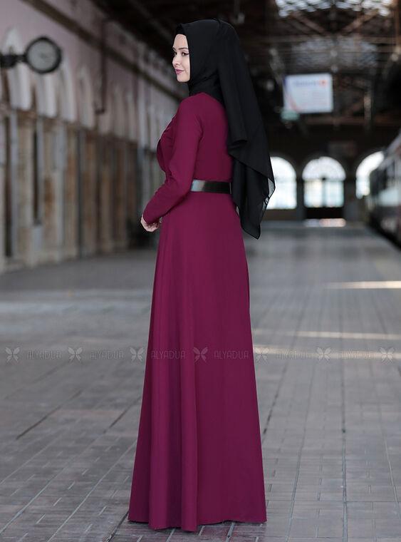 Mürdüm Ela Elbise - SFN15011