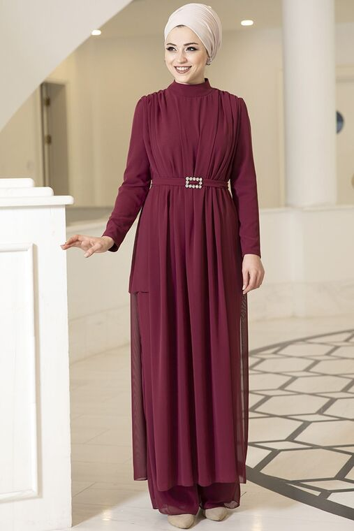 Dress Life - Mürdüm Elif İkili Takım - DL16093
