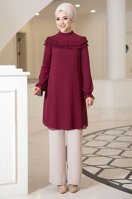 Dress Life - Mürdüm Elvin Tunik - DL16183