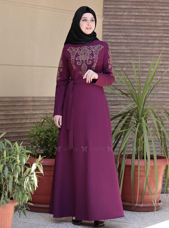 Emsale - Mürdüm İclal Elbise - ES15070