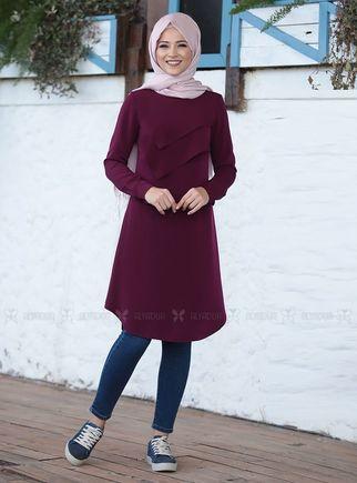 Dress Life - Mürdüm İkra Tunik - DL14500