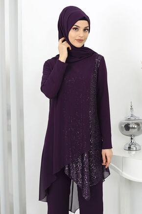 Mürdüm Zehra Abiye Takım - SUR15990 - Thumbnail