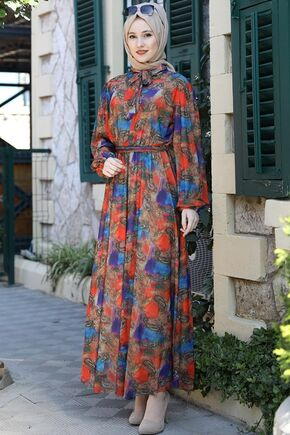 Emsale - Nar Çiçegi Lorin Elbise - ES15893