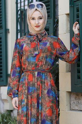 Nar Çiçegi Lorin Elbise - ES15893 - Thumbnail