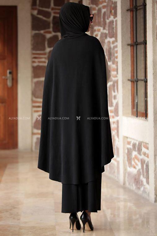 - Nilüfer Suit - Two Pieces - Knitwear - Black - RZ12870 (1)