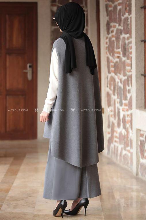 - Nilüfer Suit - Two Pieces - Knitwear - Grey - RZ12867 (1)