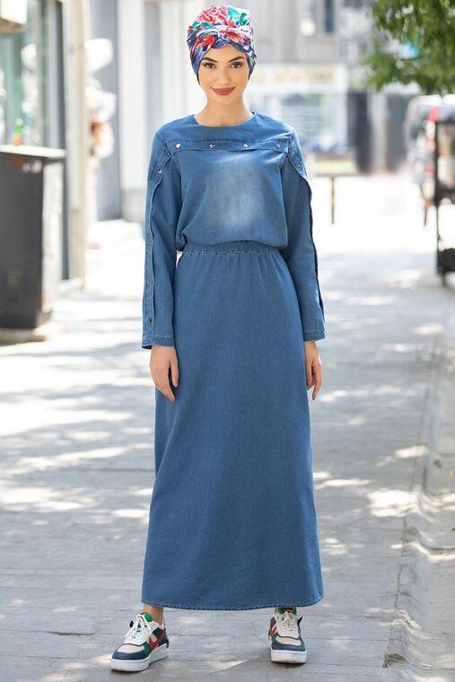 Rana Zenn - Nisa Kot Elbise - RZ15552