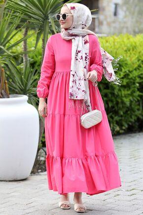Seda Tiryaki - Pembe Alaçatı Elbise - ST15895