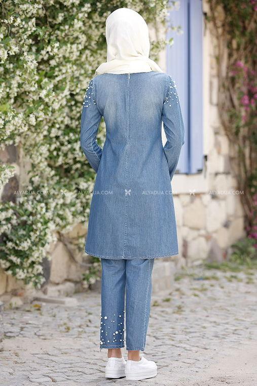 - Piennar - Mavi İncili Kot Pantolon Takım (1)