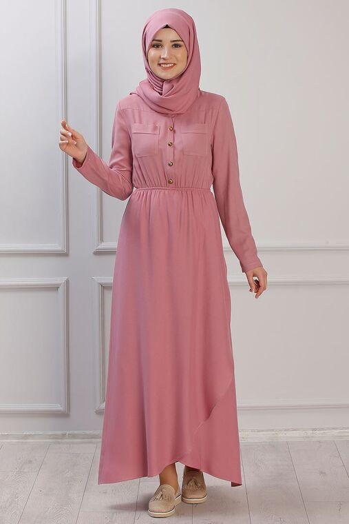 Rana Zenn - Pudra Ayça Elbise - RZ153386