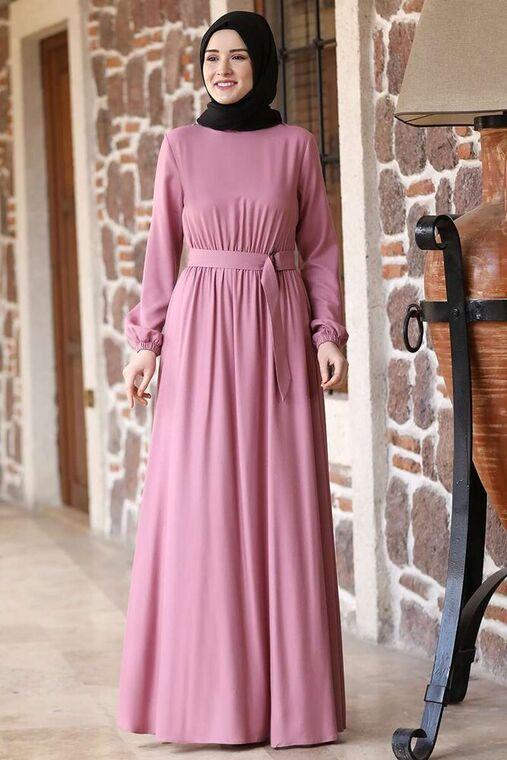 Rana Zenn - Pudra Ceren Elbise - RZ15829