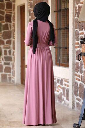 Pudra Ceren Elbise - RZ15829 - Thumbnail