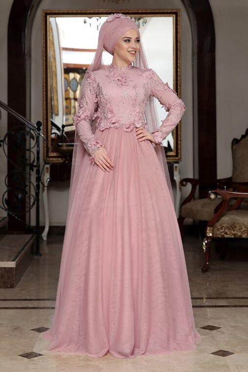 Dress Life - Pudra Seyran Abiye - DL16353