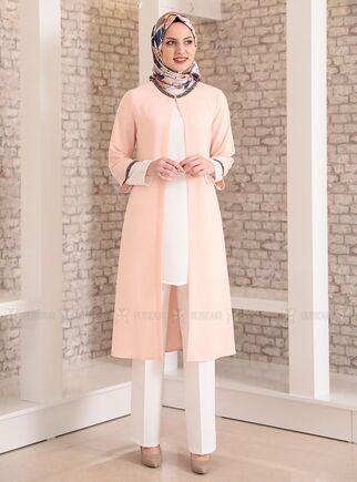 Fashion Showcase - Pudra Taş Detay Üçlü Takım - FS15023