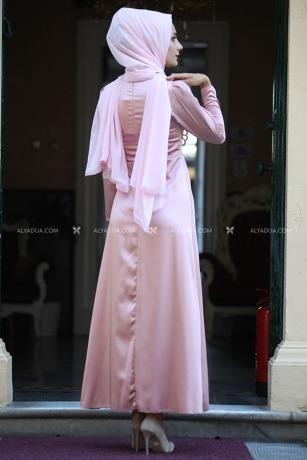 - Pudra Taş Detaylı Elbise - HZ13145 (1)