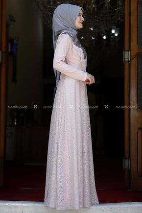 Pudra Yaprak Abiye - RZ13903 - Thumbnail