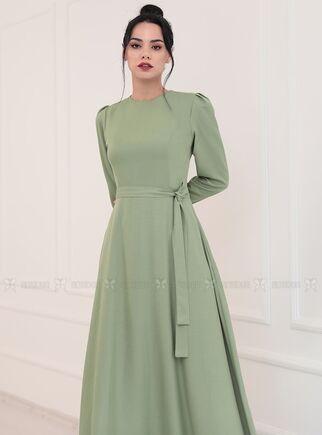 Yeşil Hazal Elbise - PN15092 - Thumbnail