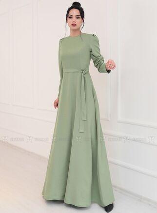 Piennar - Yeşil Hazal Elbise - PN15092