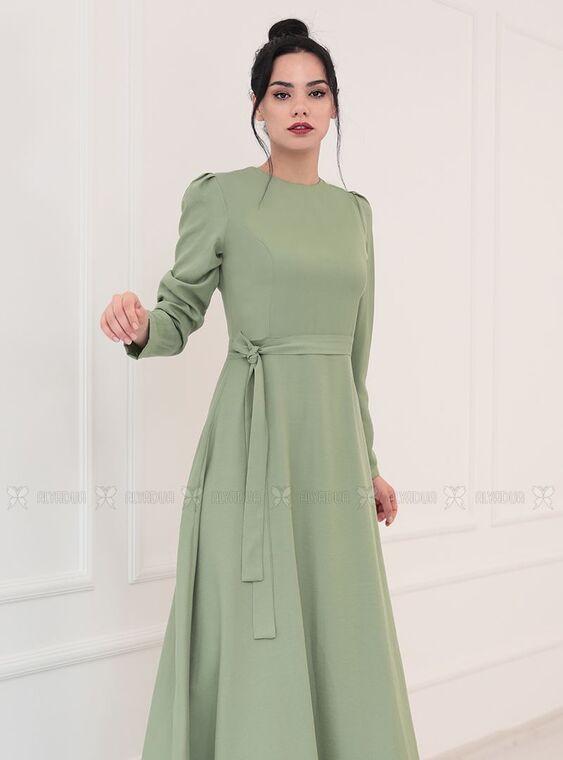 Yeşil Hazal Elbise - PN15092