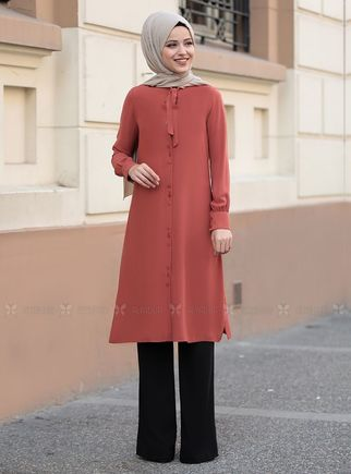 Dress Life - Kiremit Tual Tunik - DL14461