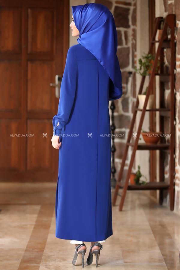 - Saks Uzun Tunik Pantolon Takım - AD13208 (1)