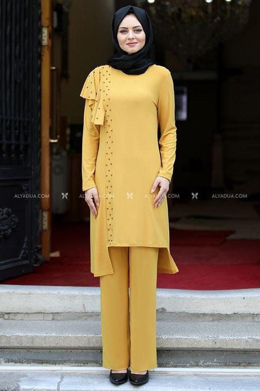 Ahunisa - Sarı Endam Takım - AHU14108