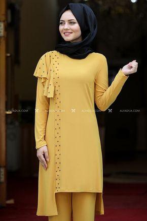 Sarı Endam Takım - AHU14108 - Thumbnail