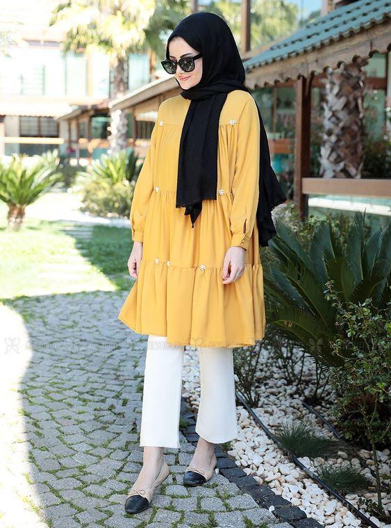Seda Tiryaki - Sarı İnci Tunik - ST14906