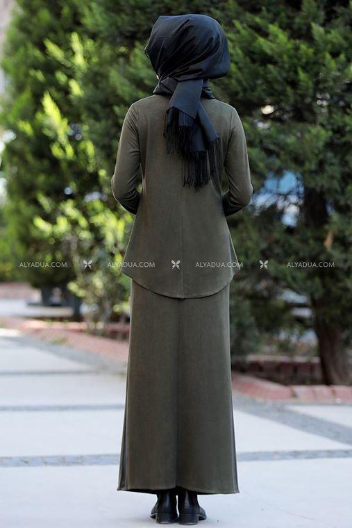 Sema Şimşek - Sema Şimşek - Buse Suit Khaki (1)